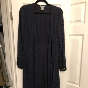 H&M Navy Maxi Top